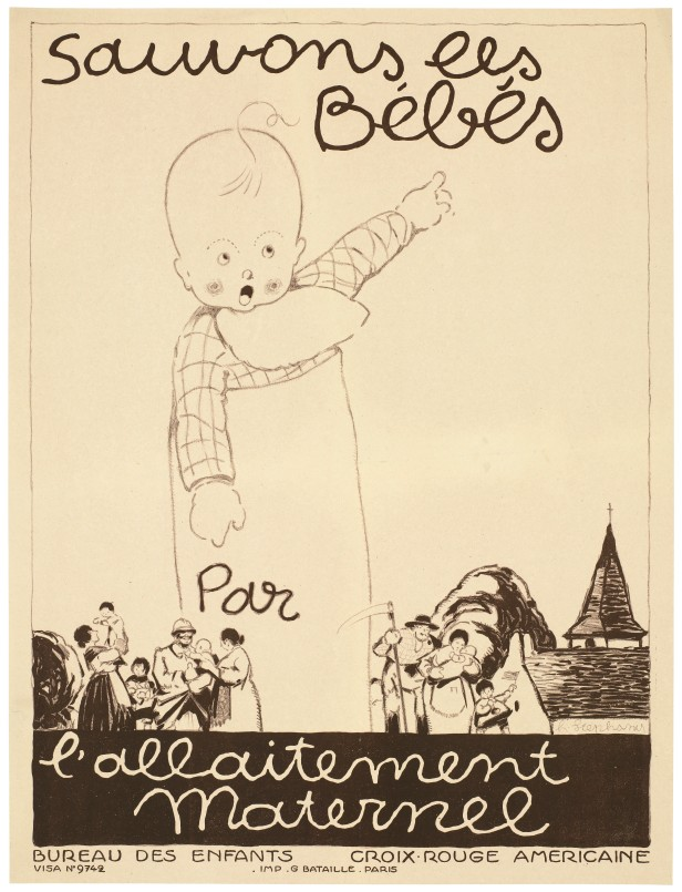 L0063776 Let us save the babies, poster for breastfeeding, 1917.