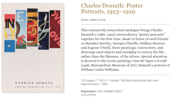Charles Demuth Poster Portraits