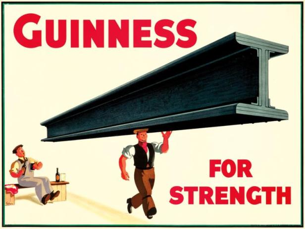 Guinness for Strength 1934 T B Lawrence 101 by 76cm